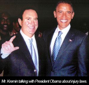 David Kremin with President Barack Obama